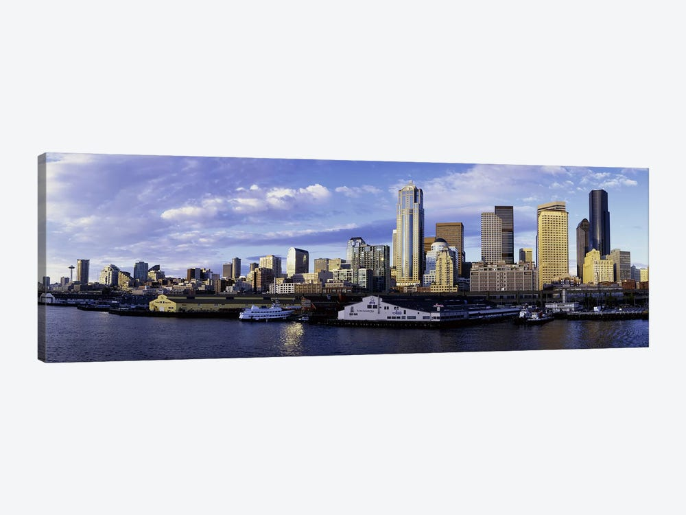 City at the waterfront, Seattle, Washington State, USA by Panoramic Images 1-piece Canvas Print