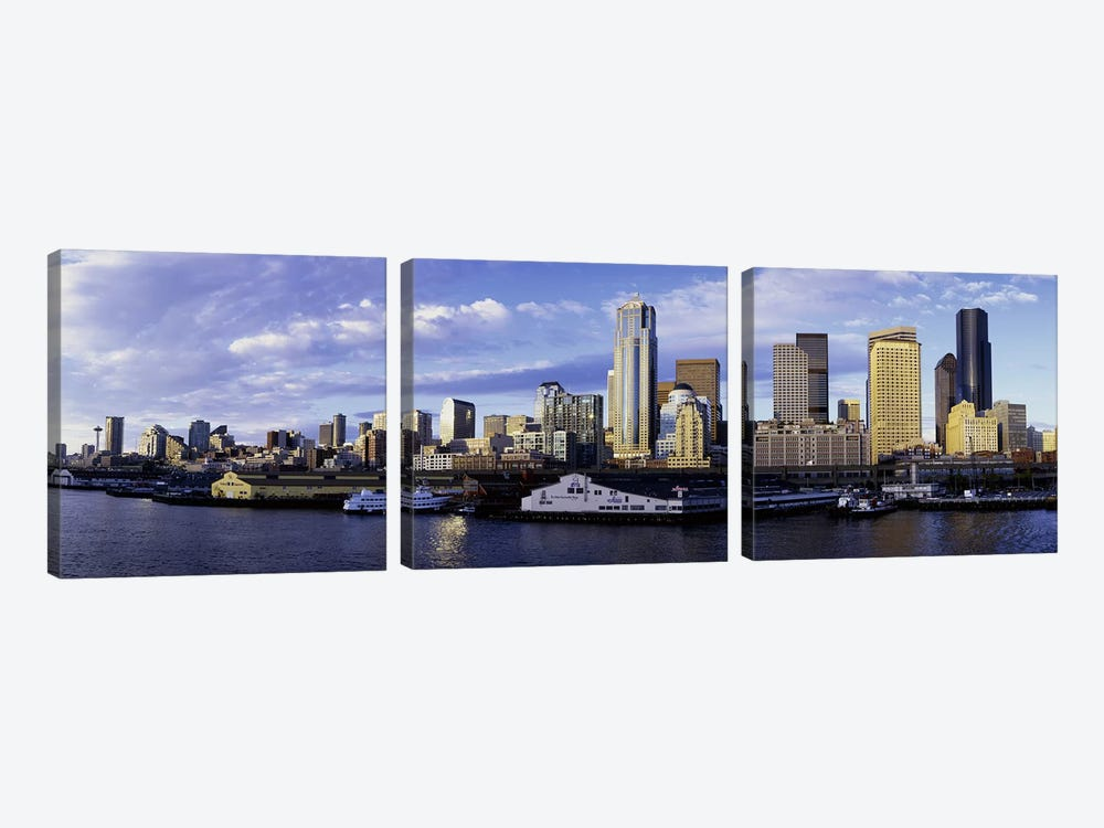 City at the waterfront, Seattle, Washington State, USA by Panoramic Images 3-piece Art Print