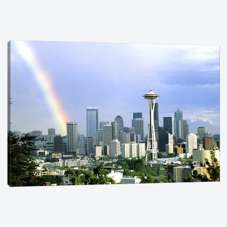 Rainbow Seattle WA Canvas Print #PIM3261} by Panoramic Images Canvas Art
