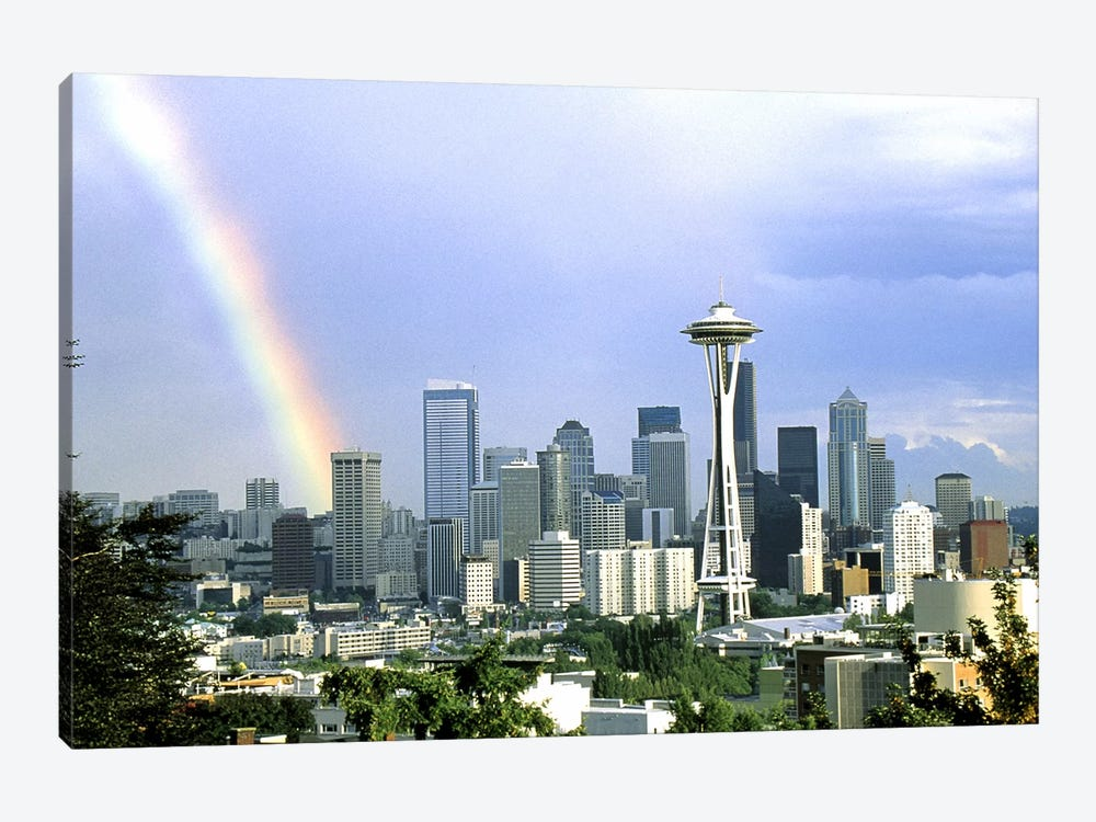 Rainbow Seattle WA by Panoramic Images 1-piece Canvas Artwork