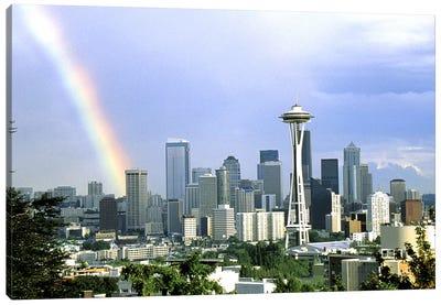 Rainbow Seattle WA Canvas Art Print