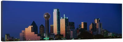 NightCityscape, Dallas, Texas, USA Canvas Print #PIM3262