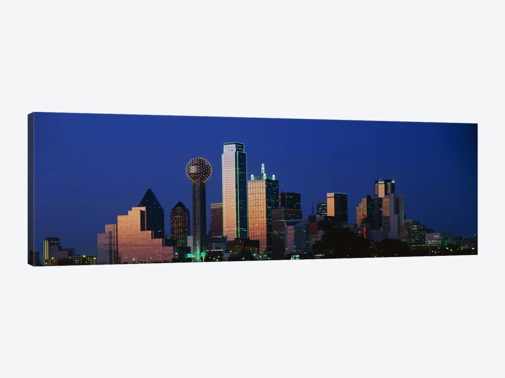NightCityscape, Dallas, Texas, USA by Panoramic Images 1-piece Art Print