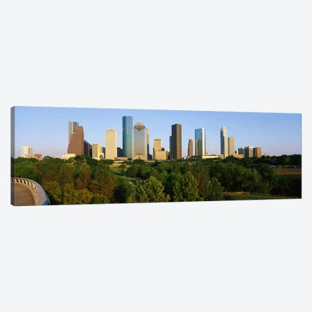 Downtown Houston Canvas Print #PIM3263} by Panoramic Images Canvas Art