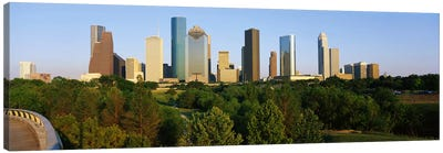 Downtown Houston Canvas Print #PIM3263