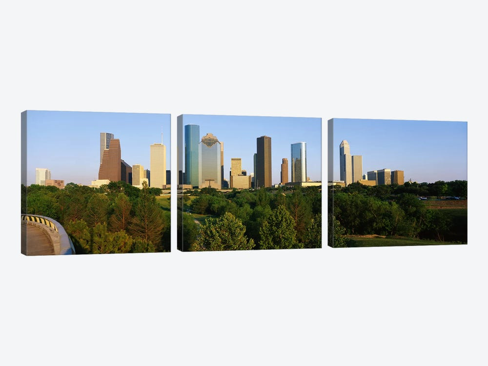 Downtown Houston by Panoramic Images 3-piece Canvas Wall Art