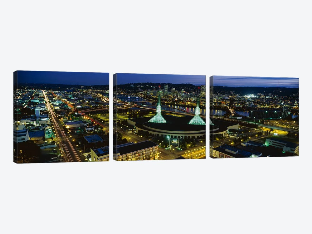 Portland OR by Panoramic Images 3-piece Canvas Art