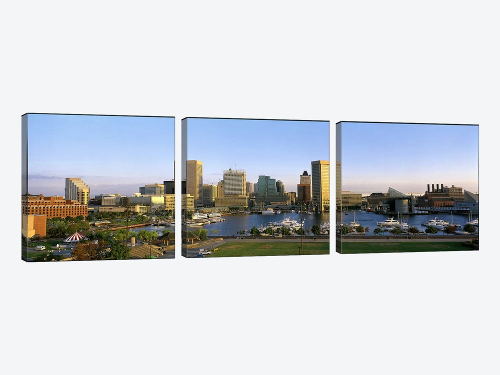 Baltimore MD by Panoramic Images 3-piece Canvas Wall Art