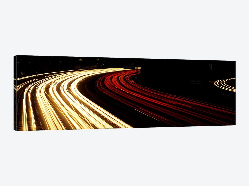 Hollywood Freeway at Night CA 1-piece Canvas Wall Art