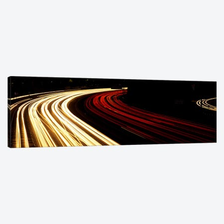 Hollywood Freeway at Night CA 3-Piece Canvas #PIM3270} by Panoramic Images Art Print
