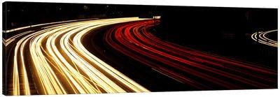 Hollywood Freeway at Night CA Canvas Art Print