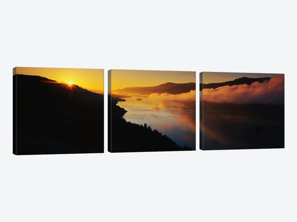 Columbia River Gorge OR by Panoramic Images 3-piece Canvas Artwork
