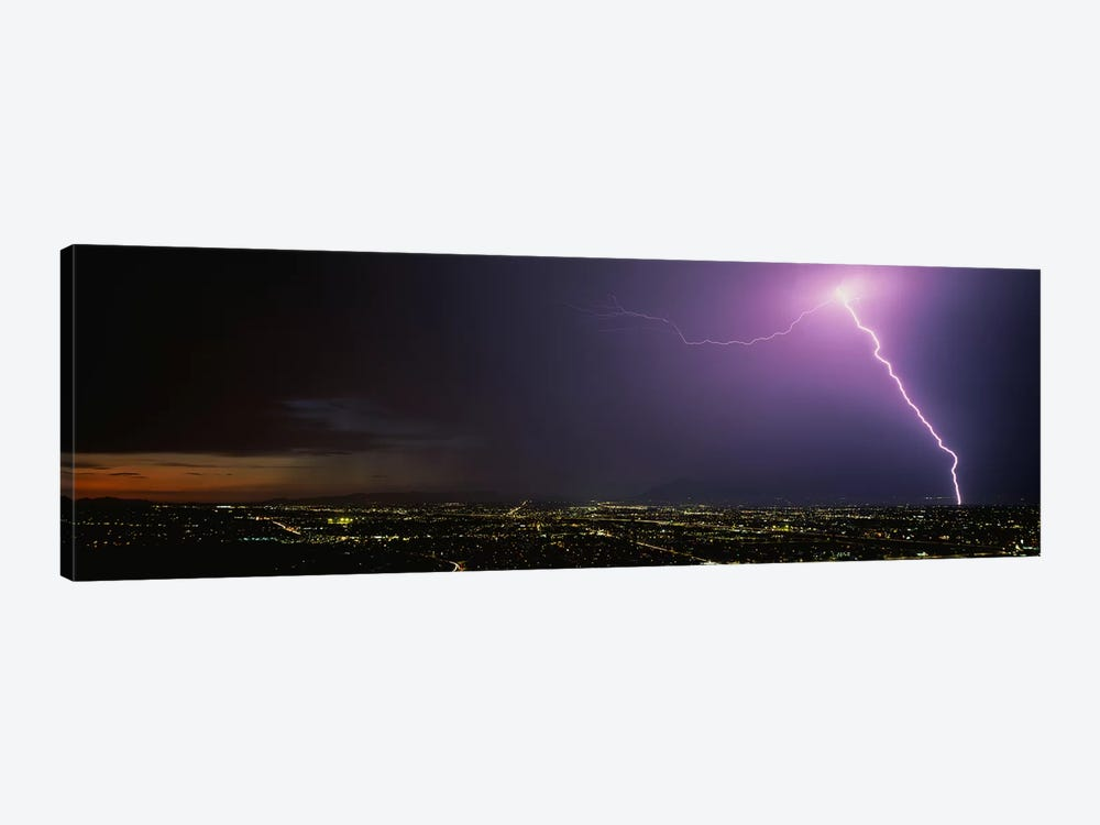 Lightning Storm at Night by Panoramic Images 1-piece Canvas Artwork