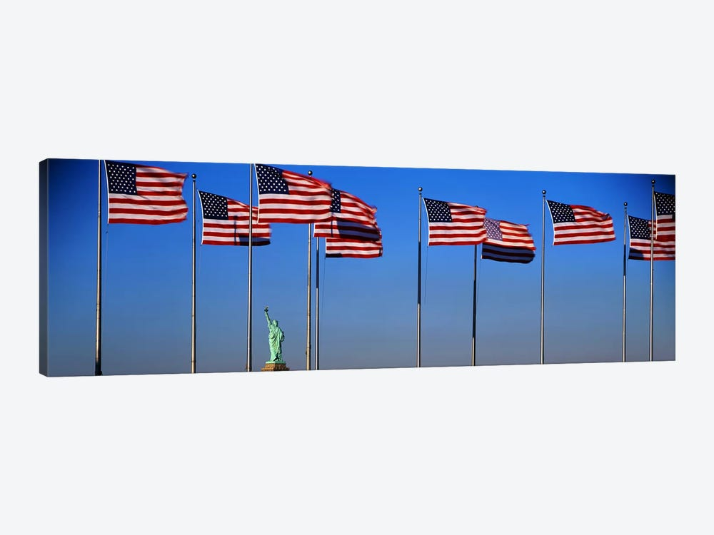 Flags New York NY by Panoramic Images 1-piece Canvas Art Print