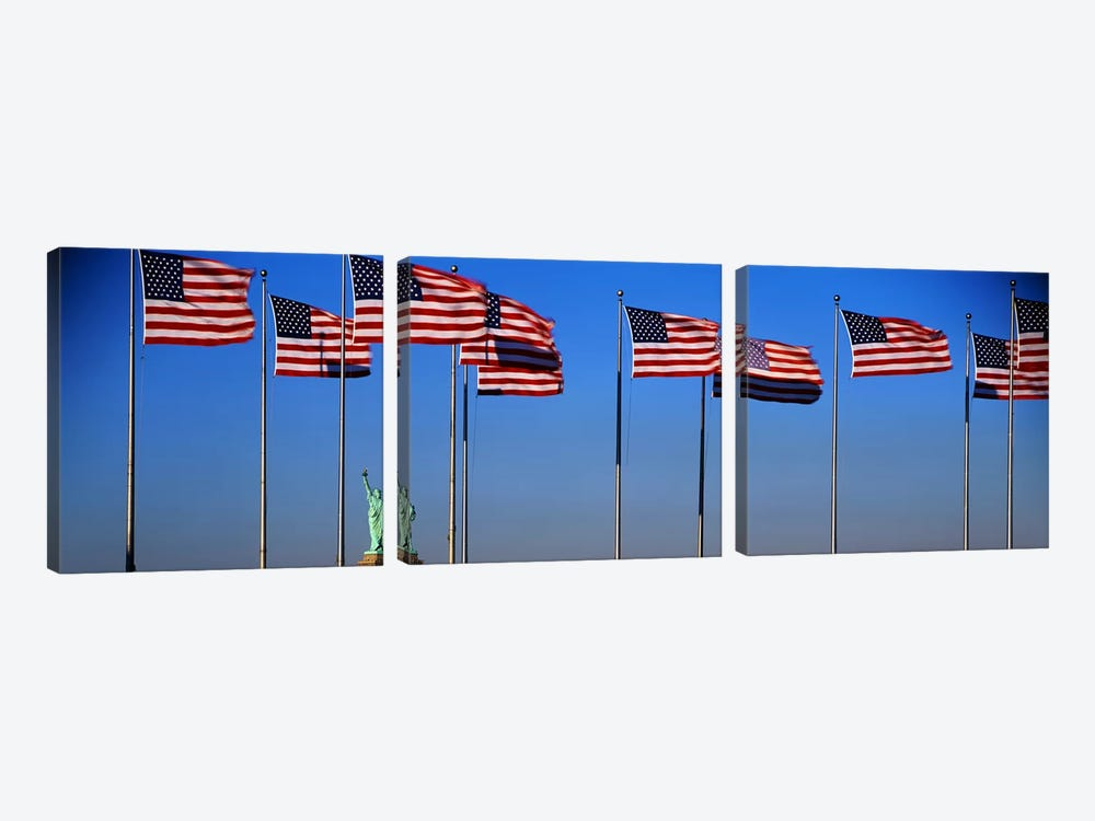 Flags New York NY by Panoramic Images 3-piece Canvas Art Print