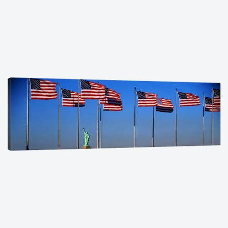 Flags New York NY Canvas Print #PIM3277} by Panoramic Images Canvas Artwork