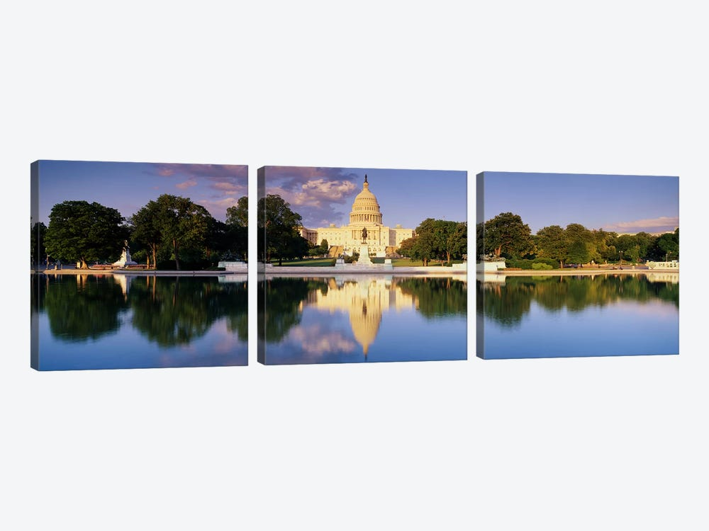 US Capitol Washington DC by Panoramic Images 3-piece Canvas Art Print