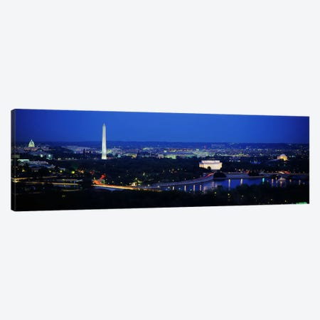 High angle view of a cityWashington DC, USA Canvas Print #PIM3281} by Panoramic Images Canvas Wall Art
