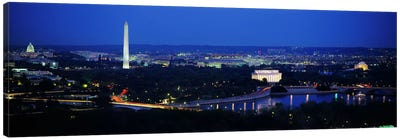 High angle view of a cityWashington DC, USA Canvas Art Print
