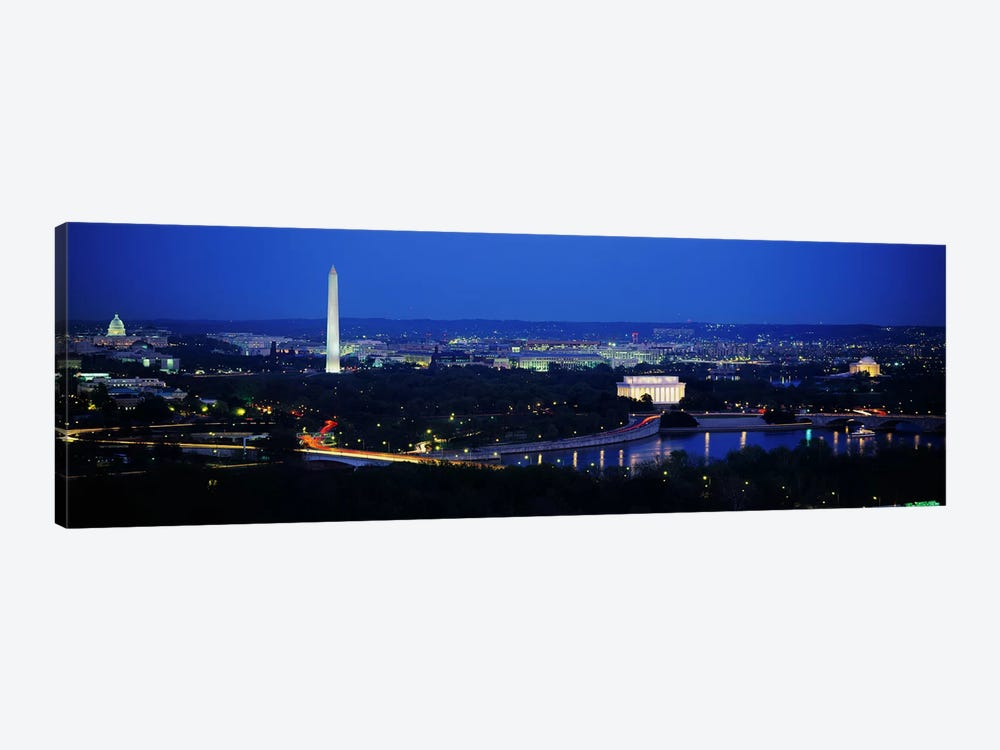 High angle view of a cityWashington DC, USA 1-piece Canvas Wall Art