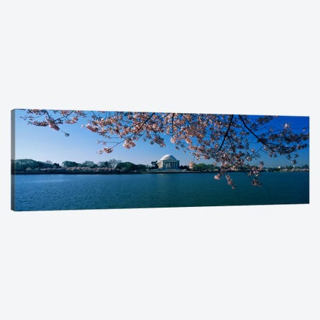 Monument at the waterfront, Jefferson Memorial, Potomac River, Washington DC, USA Canvas Print #PIM3282} by Panoramic Images Canvas Wall Art