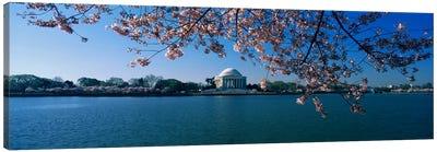 Monument at the waterfront, Jefferson Memorial, Potomac River, Washington DC, USA Canvas Print #PIM3282