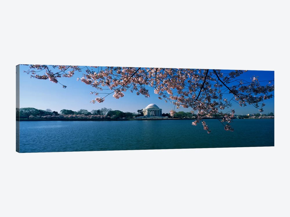 Monument at the waterfront, Jefferson Memorial, Potomac River, Washington DC, USA 1-piece Canvas Art Print
