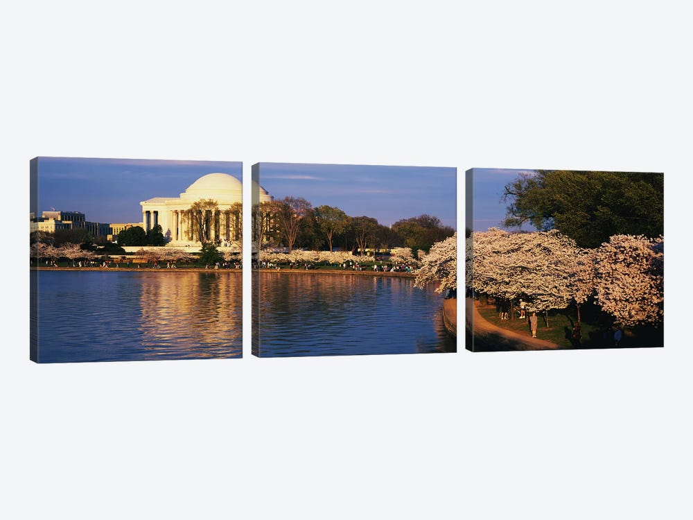 Tidal Basin Washington DC by Panoramic Images 3-piece Canvas Artwork