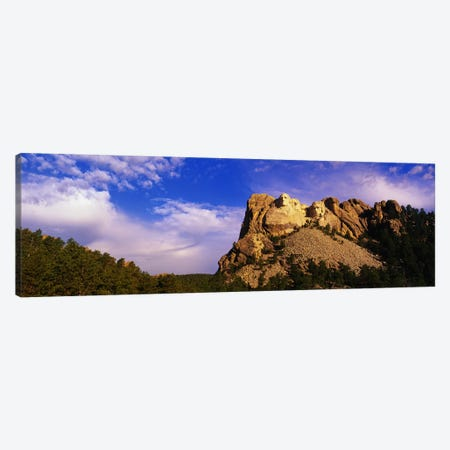 Low-Angle View Of Mount Rushmore National Memorial, Black Hills, South Dakota, USA Canvas Print #PIM3285} by Panoramic Images Art Print