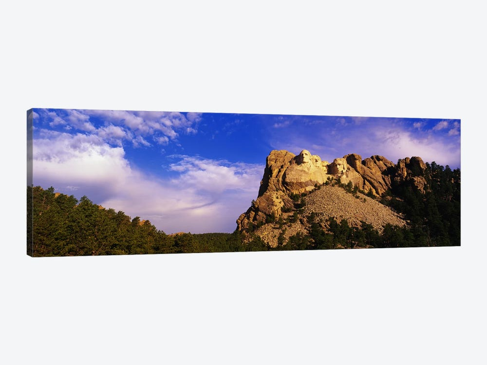 Low-Angle View Of Mount Rushmore National Memorial, Black Hills, South Dakota, USA by Panoramic Images 1-piece Canvas Wall Art