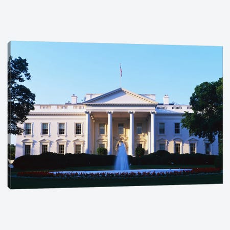 White House Washington DC Canvas Print #PIM3286} by Panoramic Images Art Print