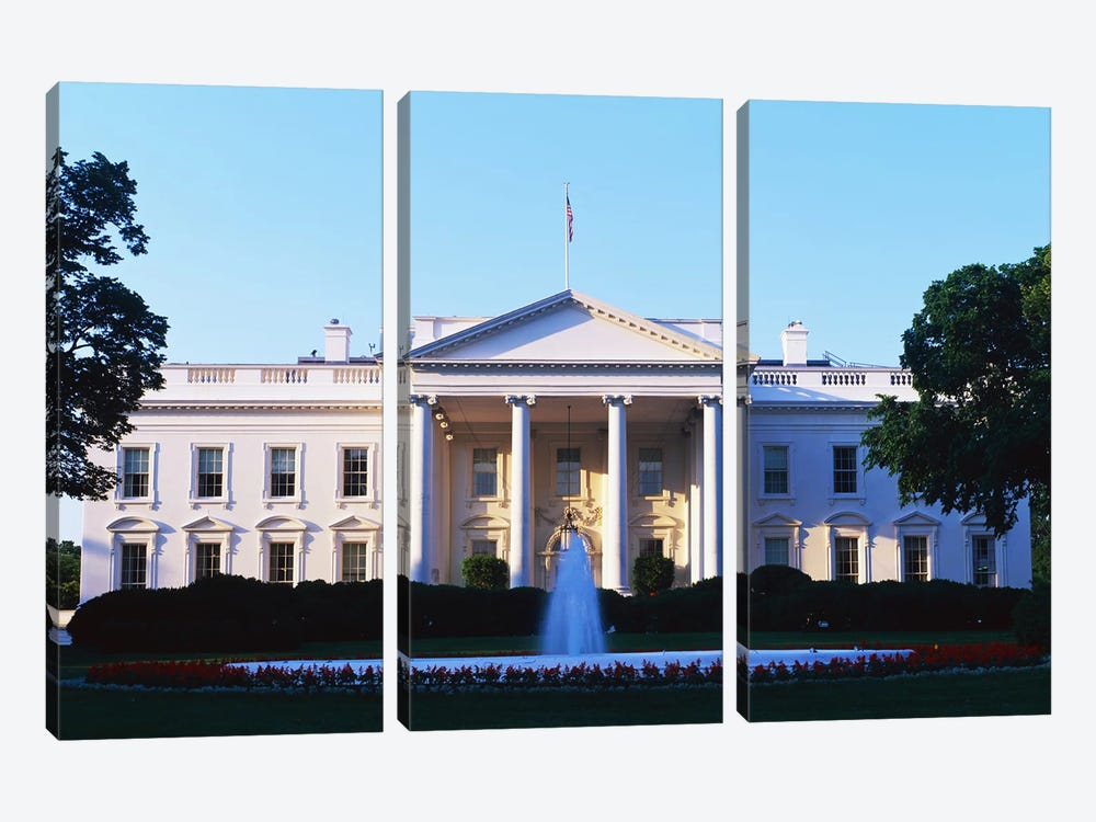 White House Washington DC by Panoramic Images 3-piece Art Print