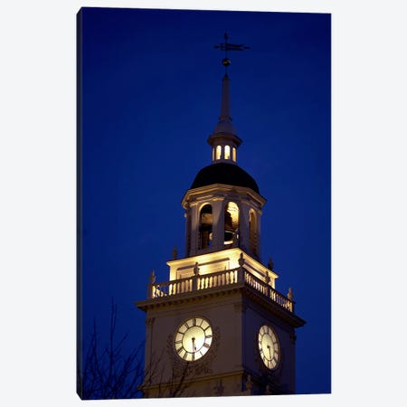 Independence Hall Tower, Philadelphia PA Canvas Print #PIM3288} by Panoramic Images Canvas Wall Art