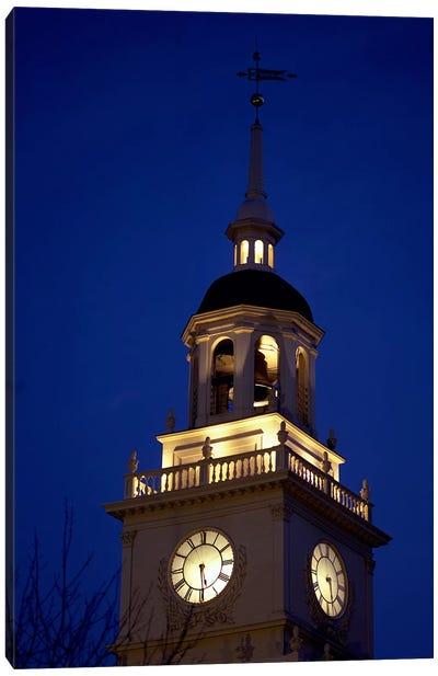 Independence Hall Tower, Philadelphia PA Canvas Print #PIM3288