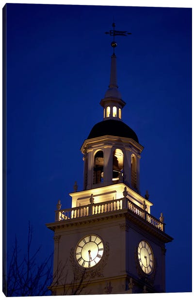 Independence Hall Tower, Philadelphia PA Canvas Art Print