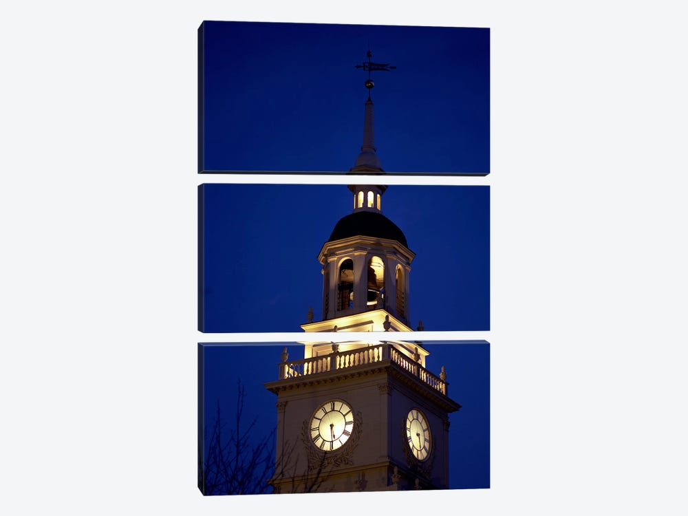 Independence Hall Tower, Philadelphia PA by Panoramic Images 3-piece Canvas Print
