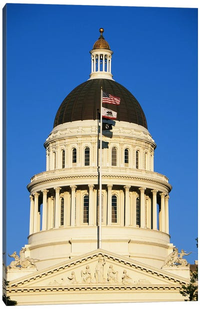 California State Capitol Building Sacramento CA Canvas Art Print