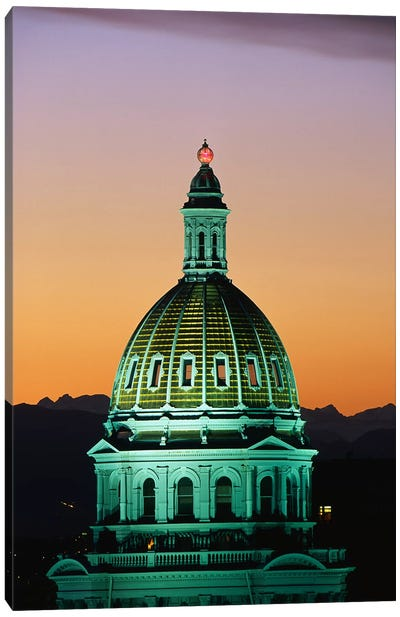Colorado State Capitol Building Denver CO Canvas Art Print