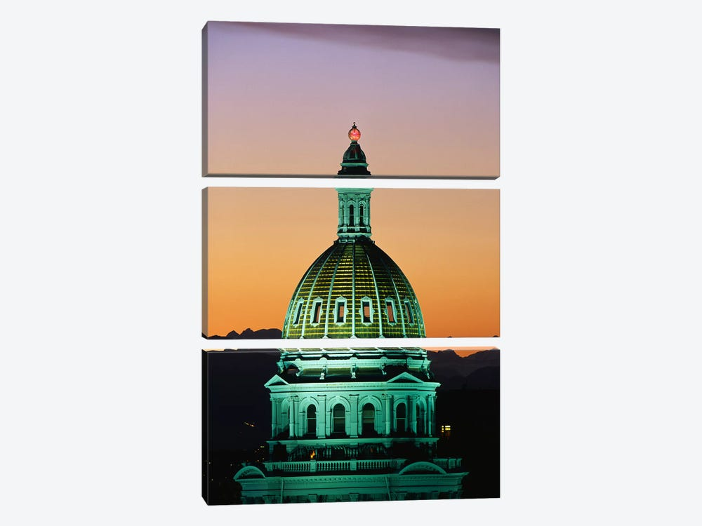 Colorado State Capitol Building Denver CO by Panoramic Images 3-piece Canvas Artwork