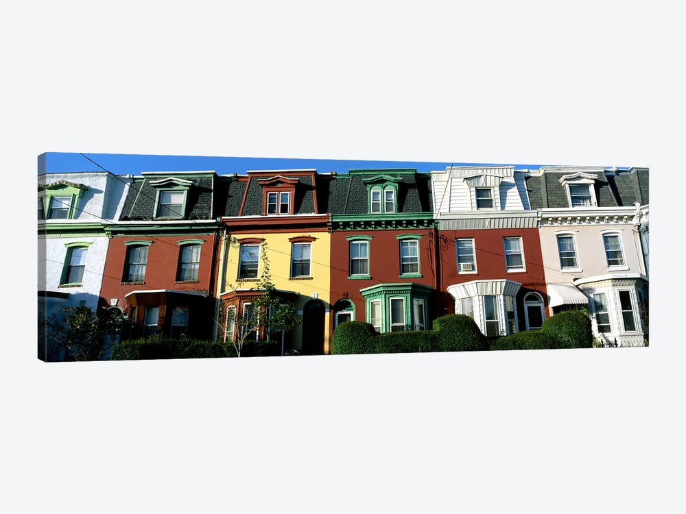 Row Houses Philadelphia PA by Panoramic Images 1-piece Canvas Print