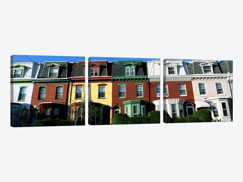 Row Houses Philadelphia PA by Panoramic Images 3-piece Canvas Print