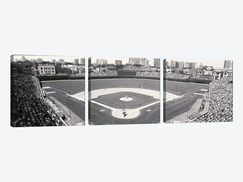 USA, Illinois, Chicago, Cubs, baseball IX by Panoramic Images 3-piece Canvas Print