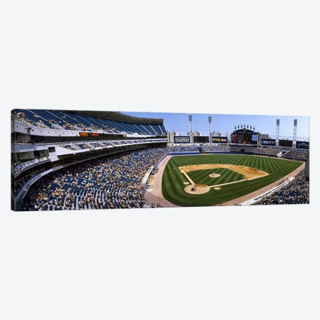 High angle view of a baseball stadium, U.S. Cellular Field, Chicago, Cook County, Illinois, USA Canvas Print #PIM3294} by Panoramic Images Canvas Wall Art