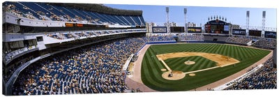 High angle view of a baseball stadium, U.S. Cellular Field, Chicago, Cook County, Illinois, USA Canvas Print #PIM3294