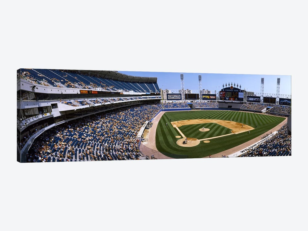 High angle view of a baseball stadium, U.S. Cellular Field, Chicago, Cook County, Illinois, USA by Panoramic Images 1-piece Canvas Artwork