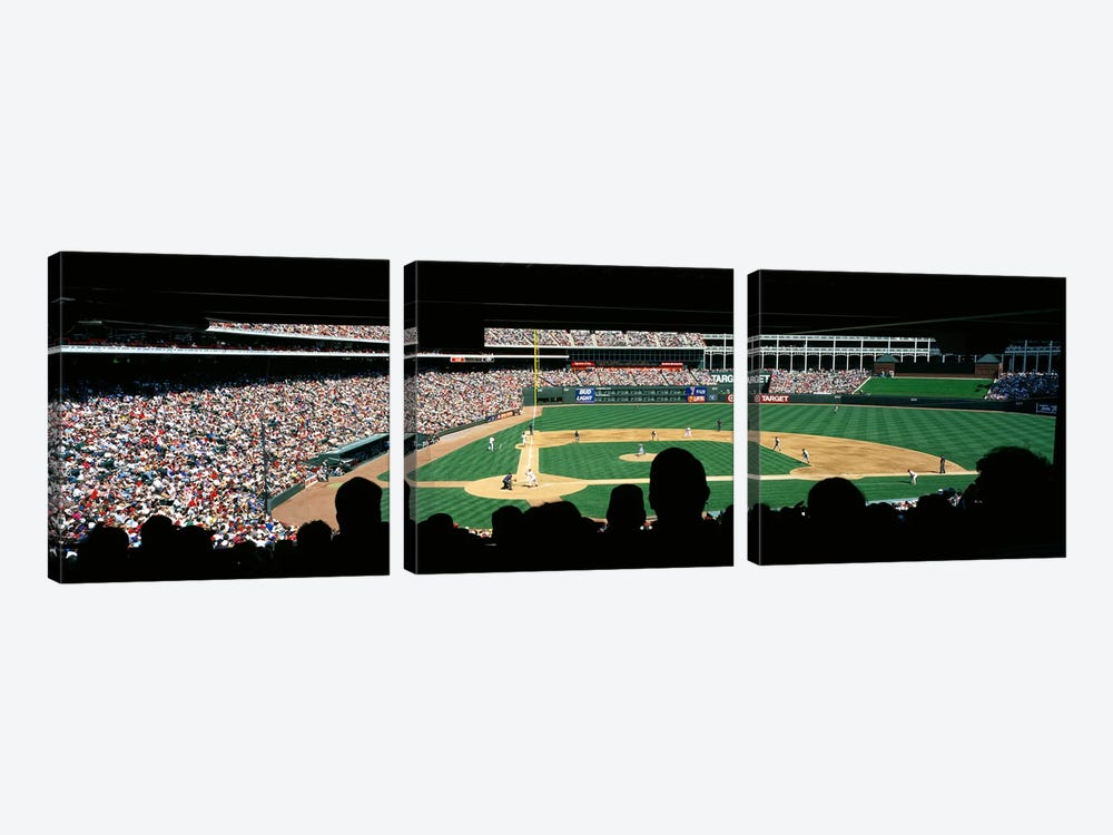 The Ballpark in Arlington by Panoramic Images 3-piece Canvas Print