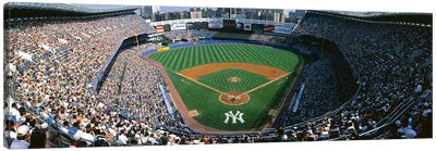 High angle view of a baseball stadium, Yankee Stadium, New York City, New York State, USA Canvas Art Print