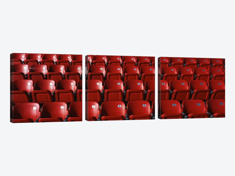 Stadium Seats by Panoramic Images 3-piece Canvas Art Print