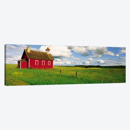 Red Prairie Schoolhouse, Battle Lake, Minnesota, USA Canvas Print #PIM32} by Panoramic Images Canvas Art Print
