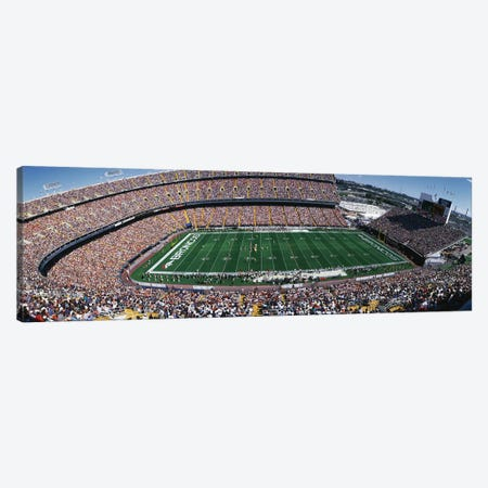 Sold Out Crowd at Mile High Stadium Canvas Print #PIM3300} by Panoramic Images Art Print